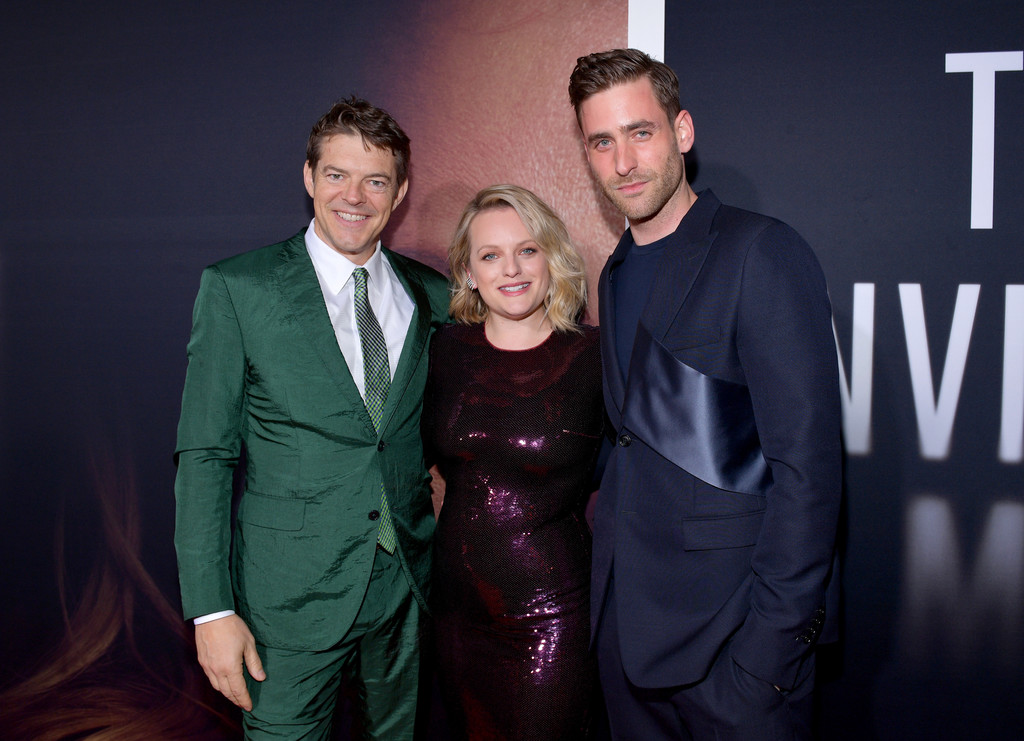 Jason Blum, Elisabeth Moss, and Oliver Jackson-Cohen The Invisible Man Hollywood Premiere Los Angeles Arrivals