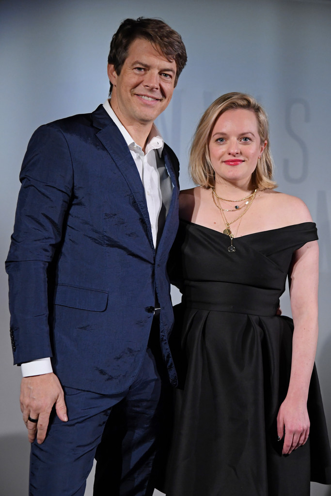 Jason Blum and Elisabeth Moss The Invsisible Man Paris Premiere France