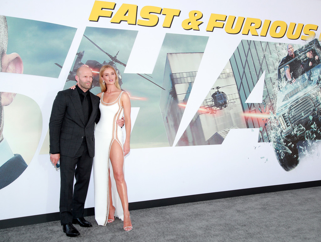 Jason Statham and Rosie Huntington Whiteley Fast and Furious Presents Hobbs and Shaw World Premiere Hollywood Los Angeles