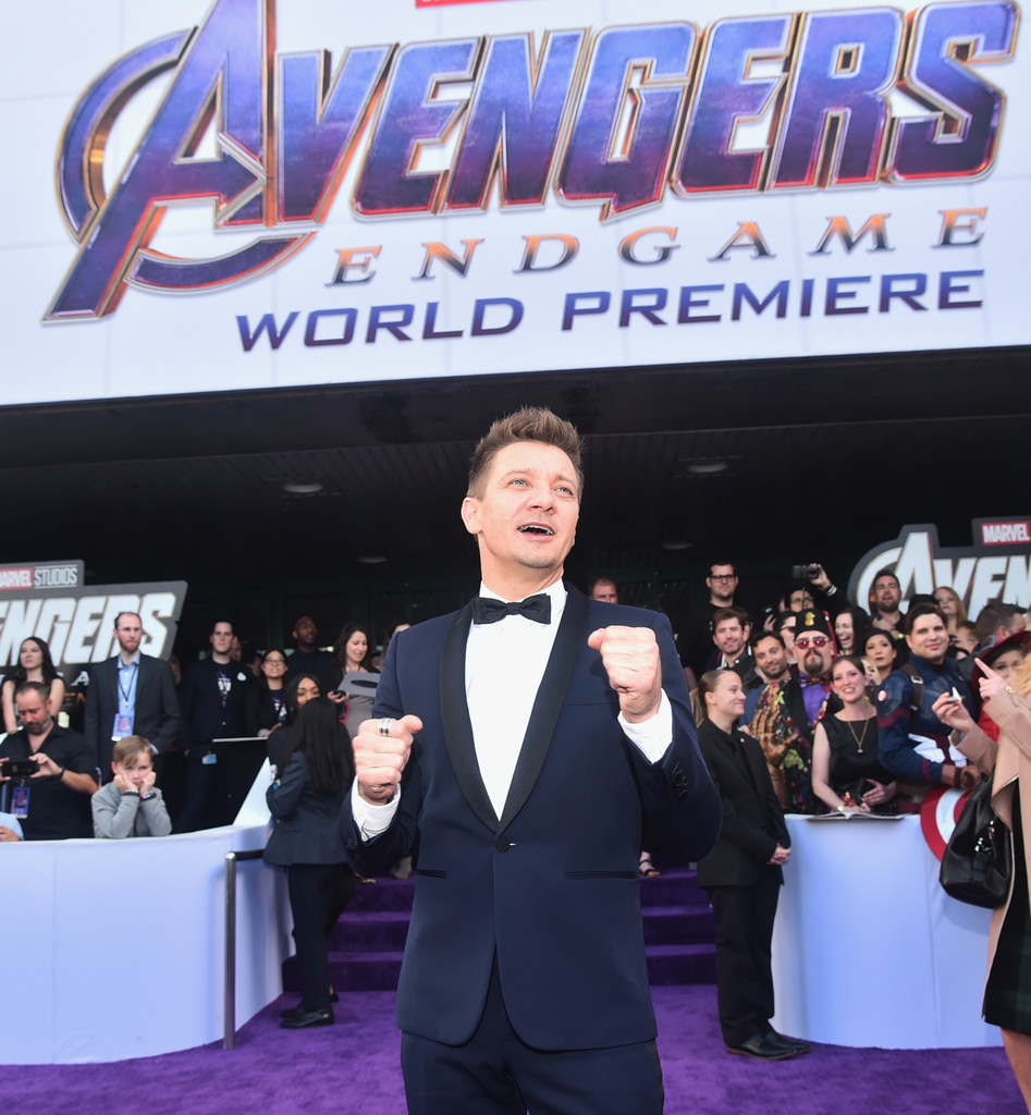 Jeremy Renner Marvel Avengers Endgame World Premiere Los Angeles Hollywood