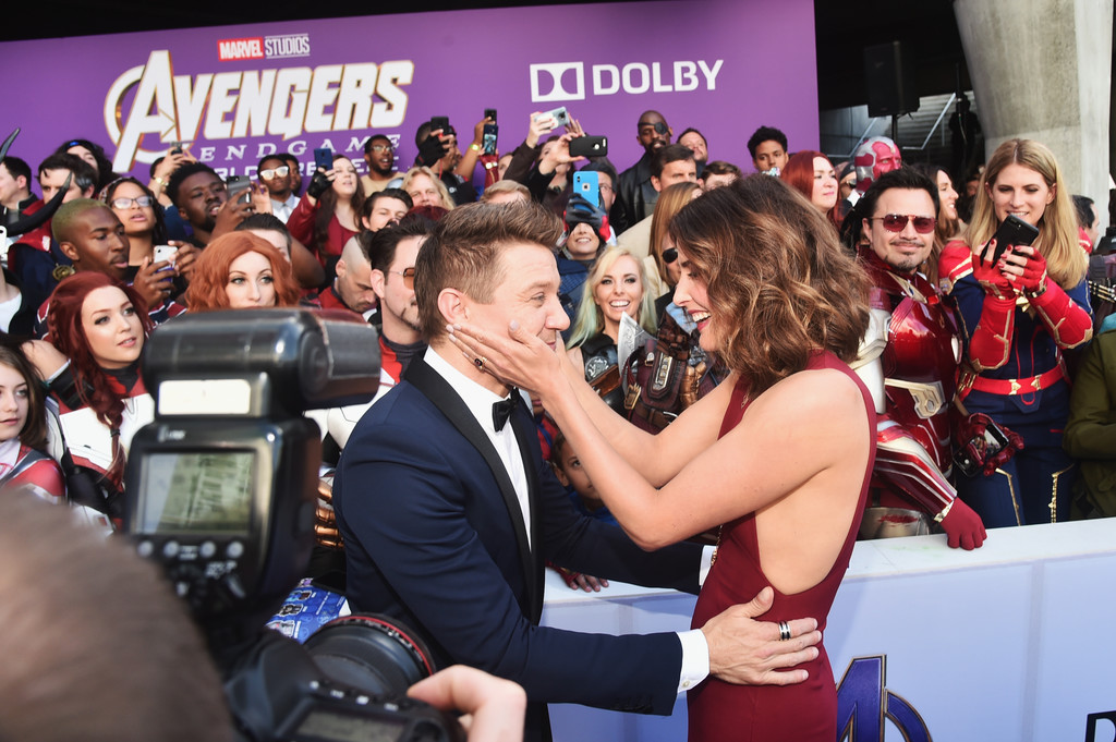 Jeremy Renner and Cobie Smulders Marvel Avengers Endgame World Premiere Los Angeles Hollywood