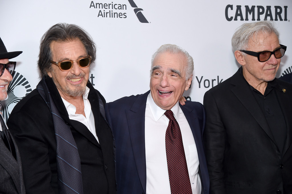 Joe Pesci, Al Pacino, Martin Scorsese and Harvy Keitel The Irishman New York Film Festival Premiere
