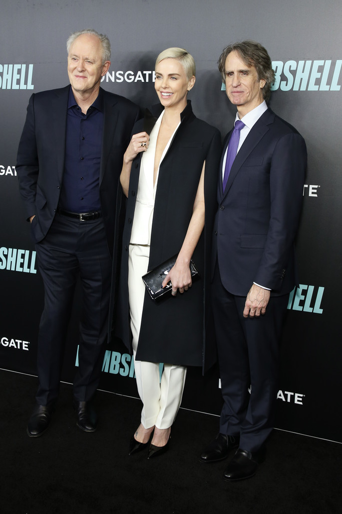 John Lithgow, Charlize Theron and Jay Roach Bombshell Special Screening New York City Arrivals