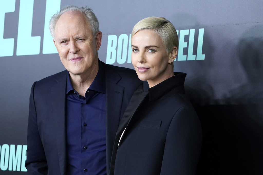 John Lithgow and Charlize Theron Bombshell Special Screening New York City Arrivals