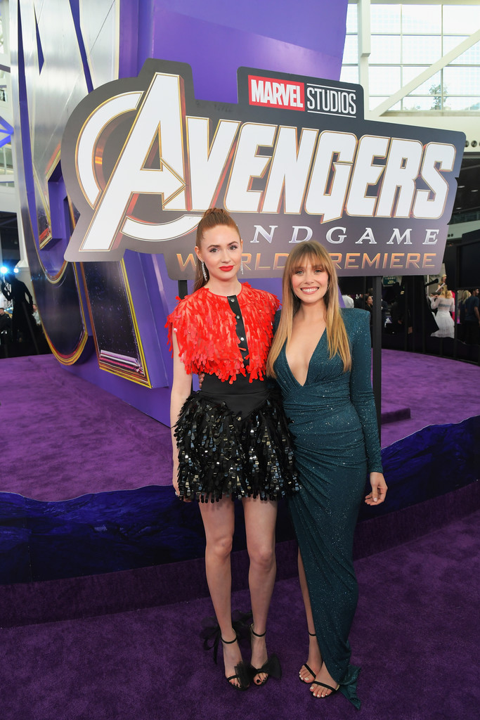 Karen Gillan and Elizabeth Olsen Marvel Avengers Endgame World Premiere Los Angeles Hollywood