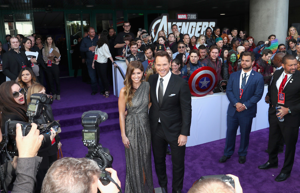 Katherine Schwarzenegger and Chris Pratt Marvel Avengers Endgame World Premiere Los Angeles Hollywood