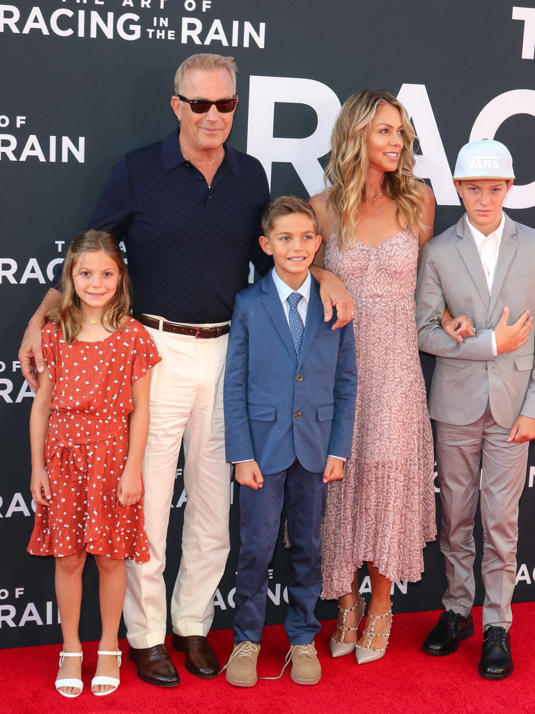 Kevin Costner and family The Art of Racing in the Rain Los Angeles Premiere Arrivals