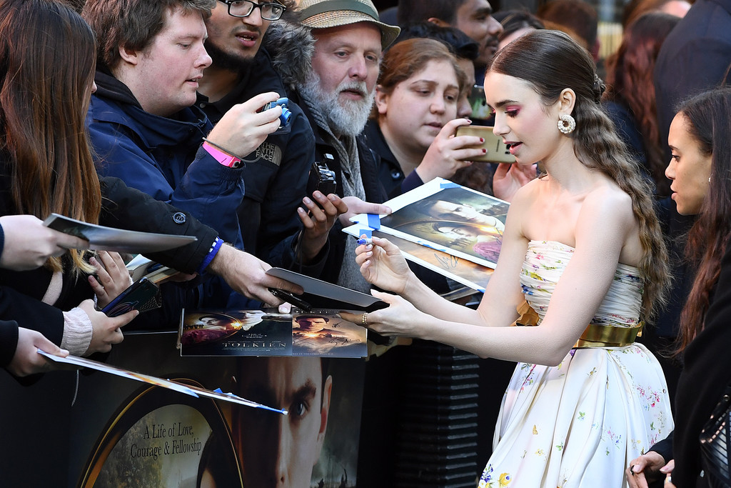Lily Collins Tolkien UK Premiere London