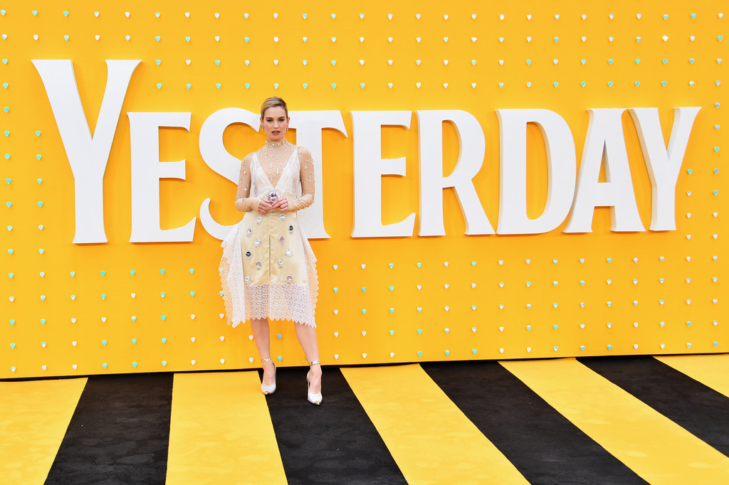 Lily James Yesterday World Premiere London