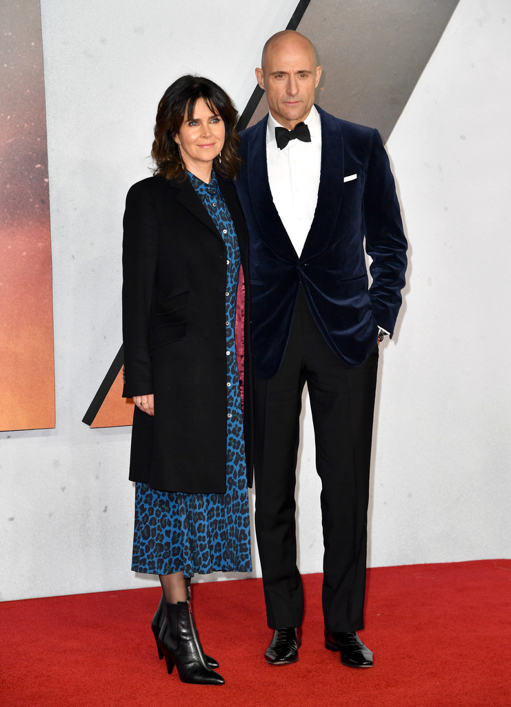 Liza Marshall and Mark Strong 1917 World Premiere London Arrivals