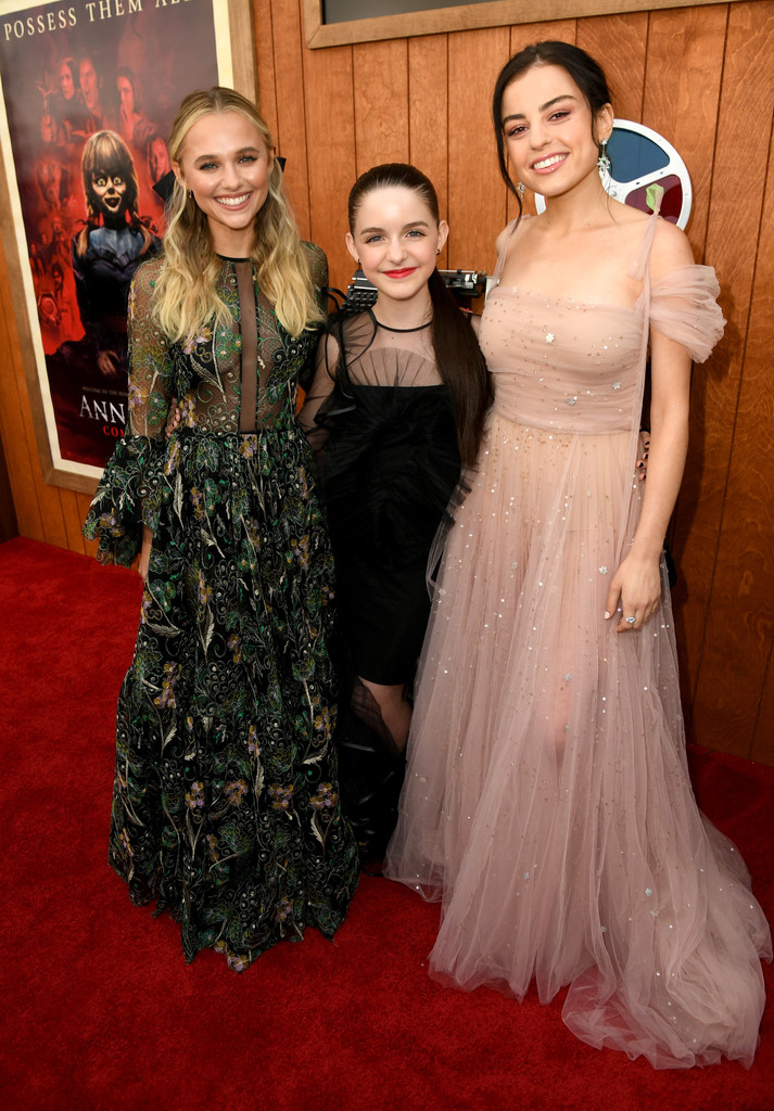 Madison Iseman, McKenna Grace and Katie Sarife Annabelle Comes Home Los Angeles Premiere