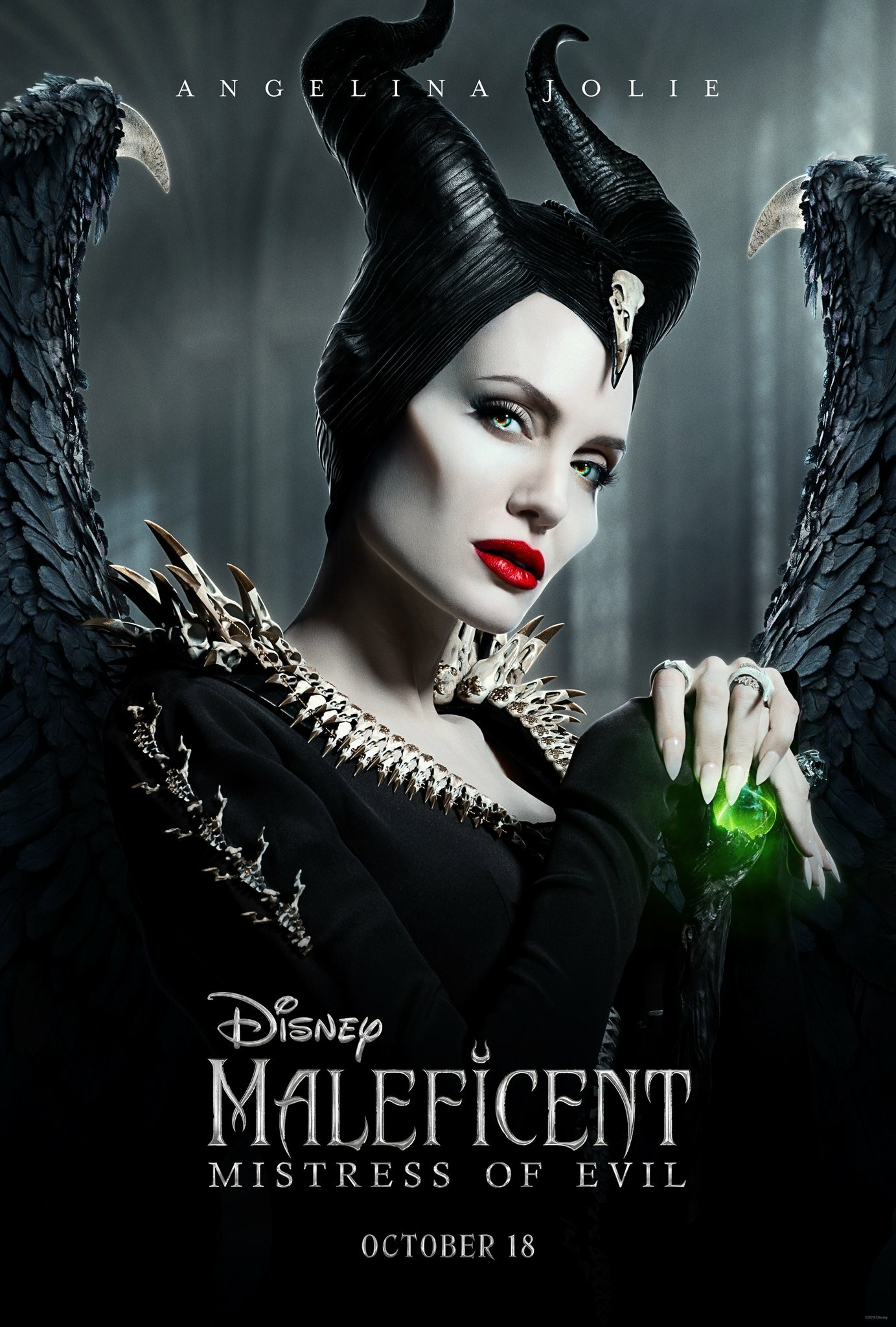Maleficent Mistress of Evil Character Posters Angelina Jolie as Maleficent