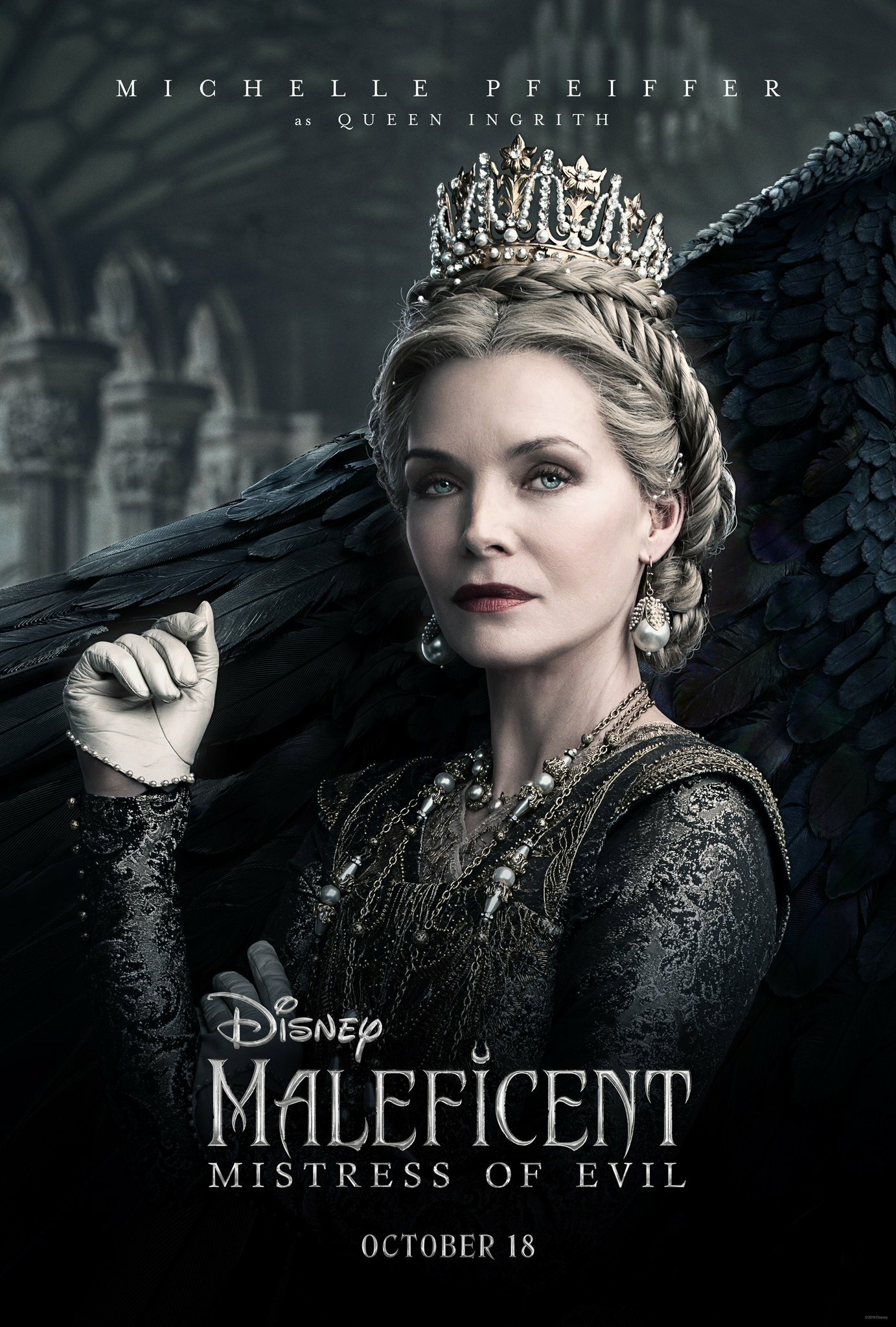Maleficent Mistress of Evil Character Posters Michelle Pfeiffer as Queen Ingrith