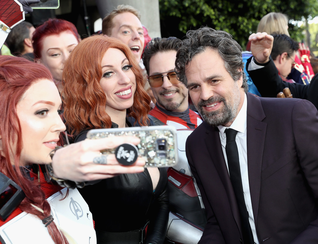 Mark Ruffalo greets fans Marvel Avengers Endgame World Premiere Los Angeles Hollywood