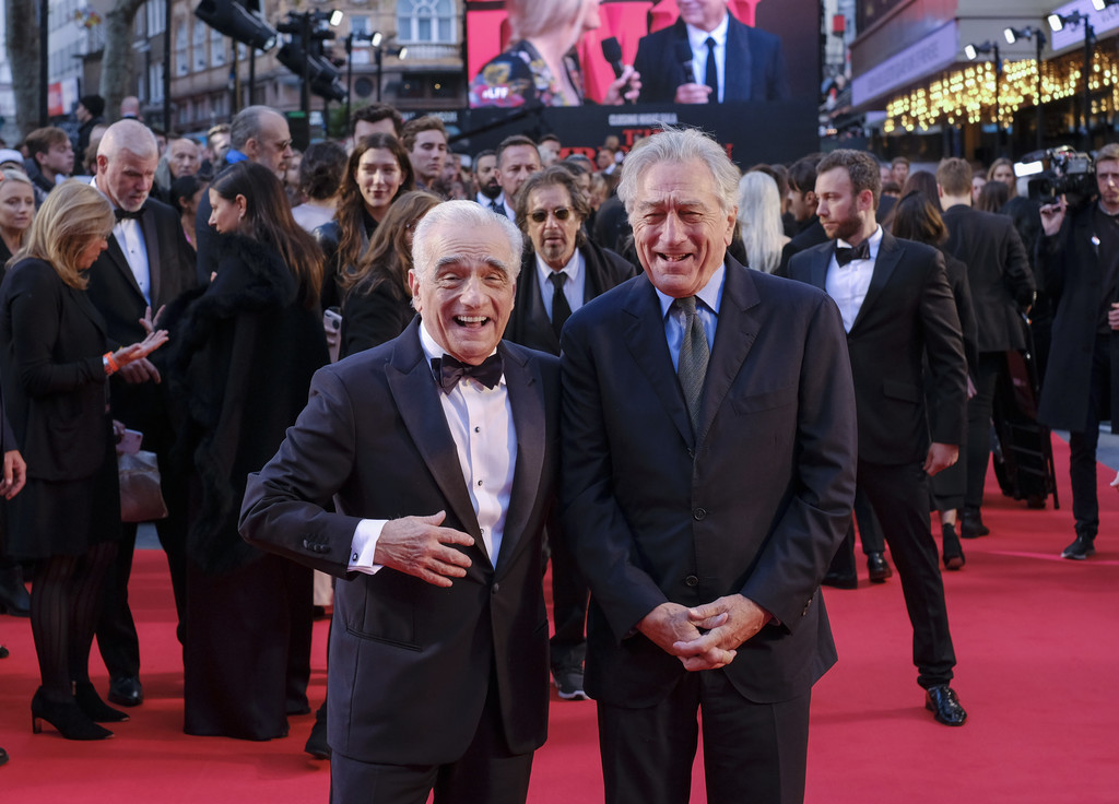 Martin Scorsese and Robert De Niro The Irishman UK Premiere BFI London Film Festival