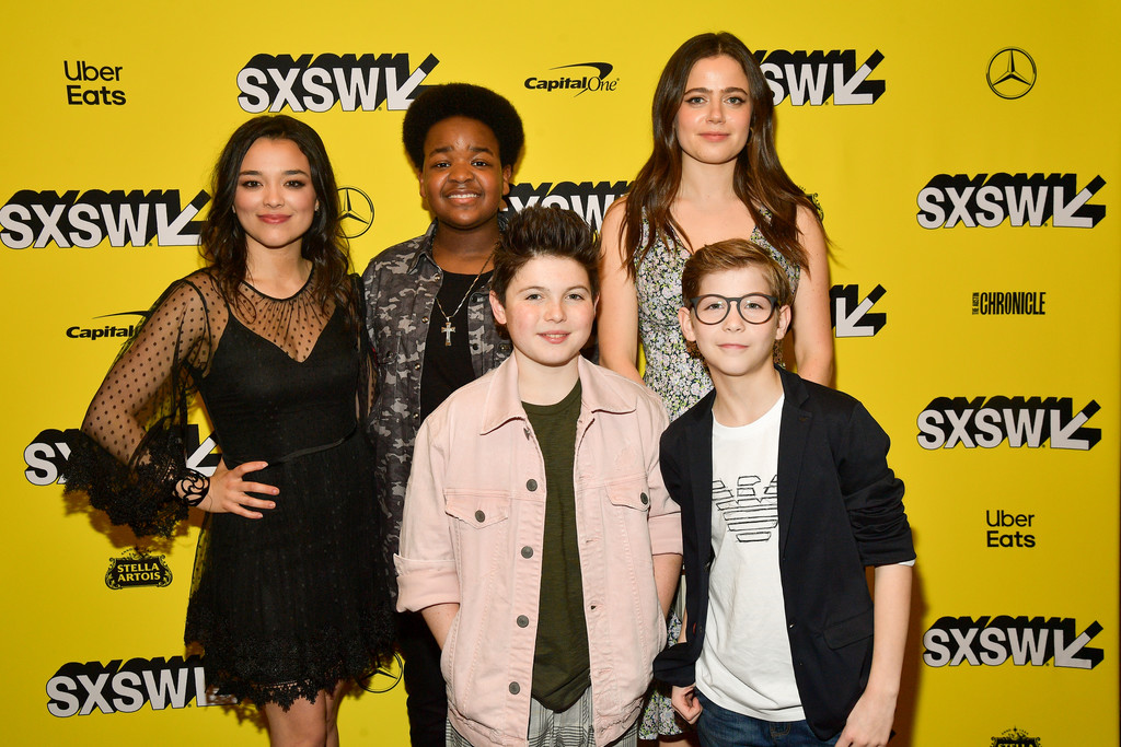 Midori Francis, Keith L. Williams, Brady Noon, Molly Gordon and Jacob Tremblay Good Boys Premiere Texas