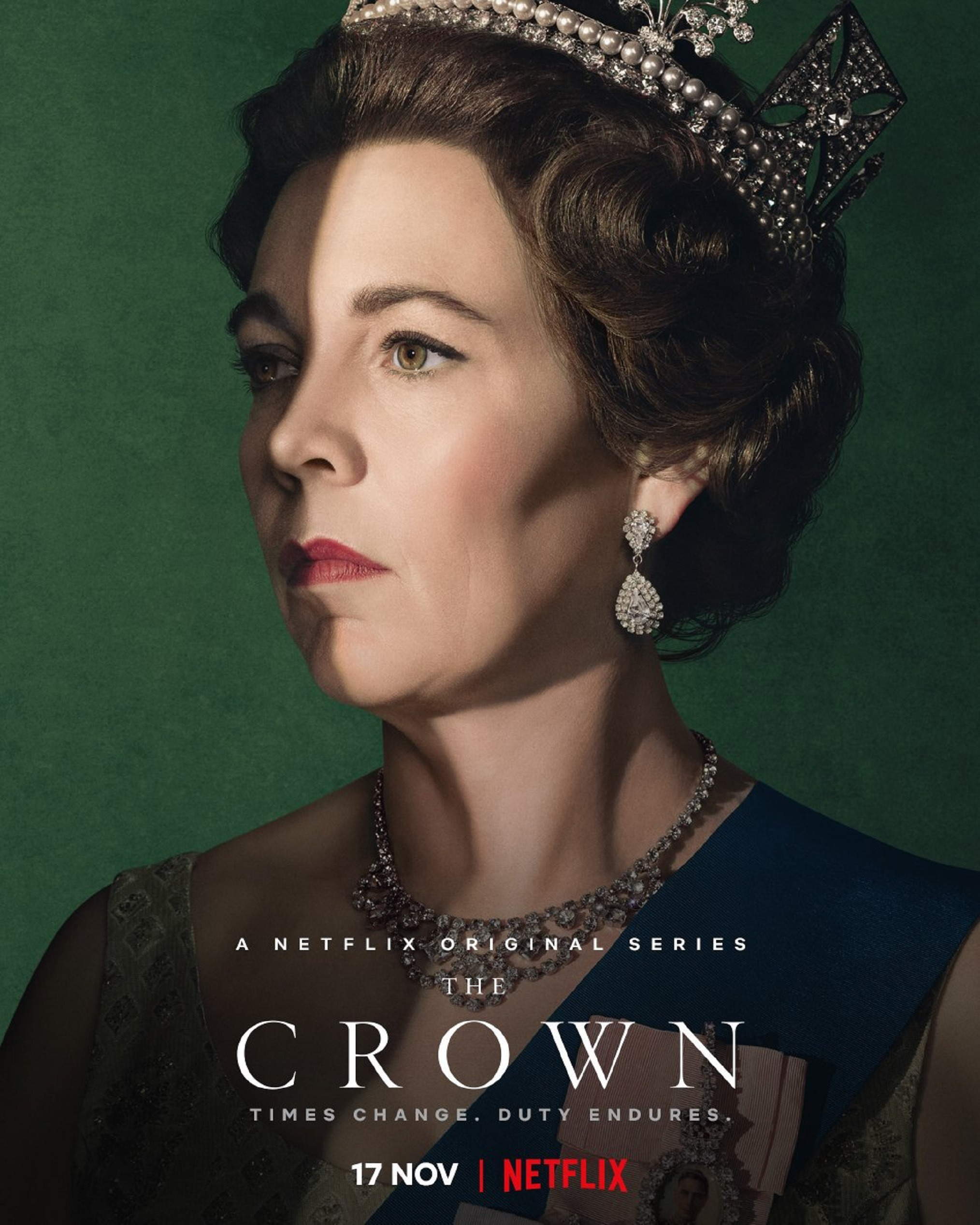 Netflix The Crown Season 3 Character Posters Olivia Colman as Queen Elizabeth II