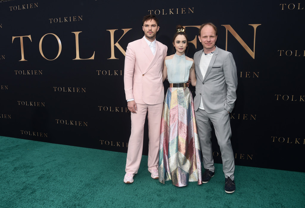 Nicholas Hoult, Lily Collins and Dome Karukoski Tolkien Los Angeles Premiere Arrivals