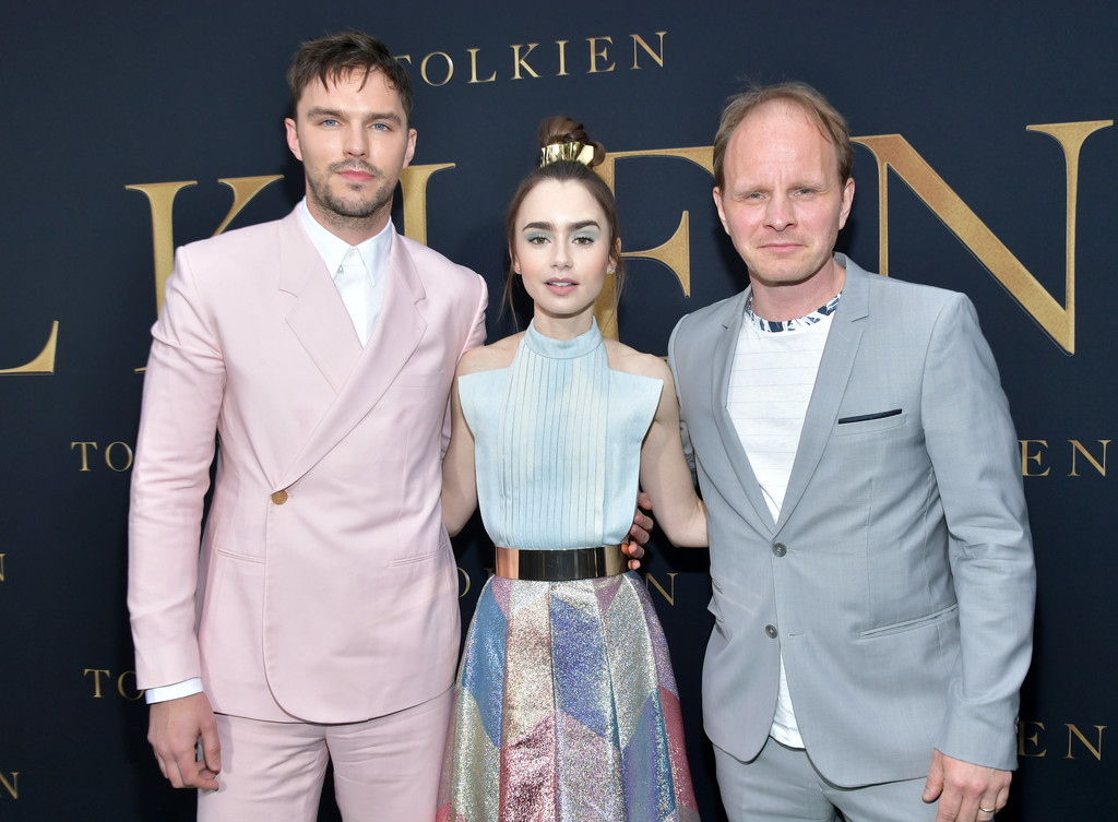 Nicholas Hoult, Lily Collins and Dome Karukoski Tolkien Los Angeles Premiere