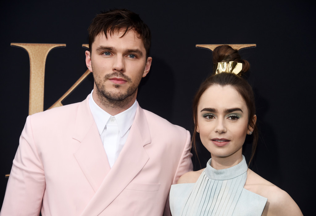 Nicholas Hoult and Lily Collins Tolkien Los Angeles Premiere Arrivals 2