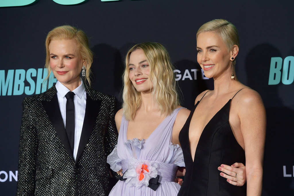 Nicole Kidman, Margot Robbie and Charlize Theron Bombshell Premiere Hollywood Los Angeles Arrivals