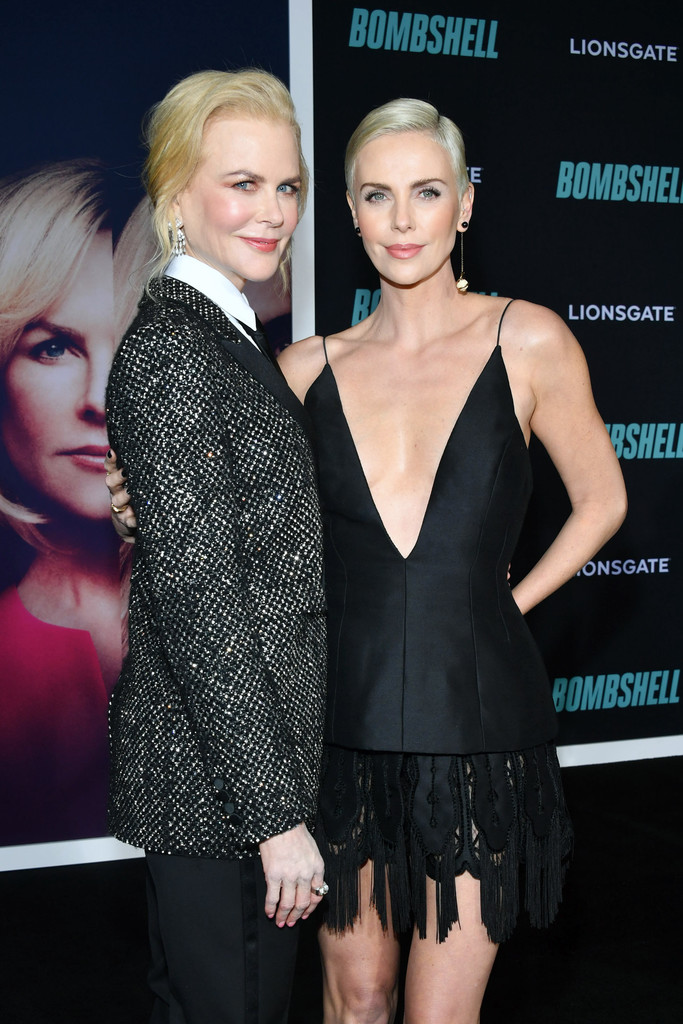 Nicole Kidman and Charlize Theron Bombshell Premiere Hollywood Los Angeles Arrivals