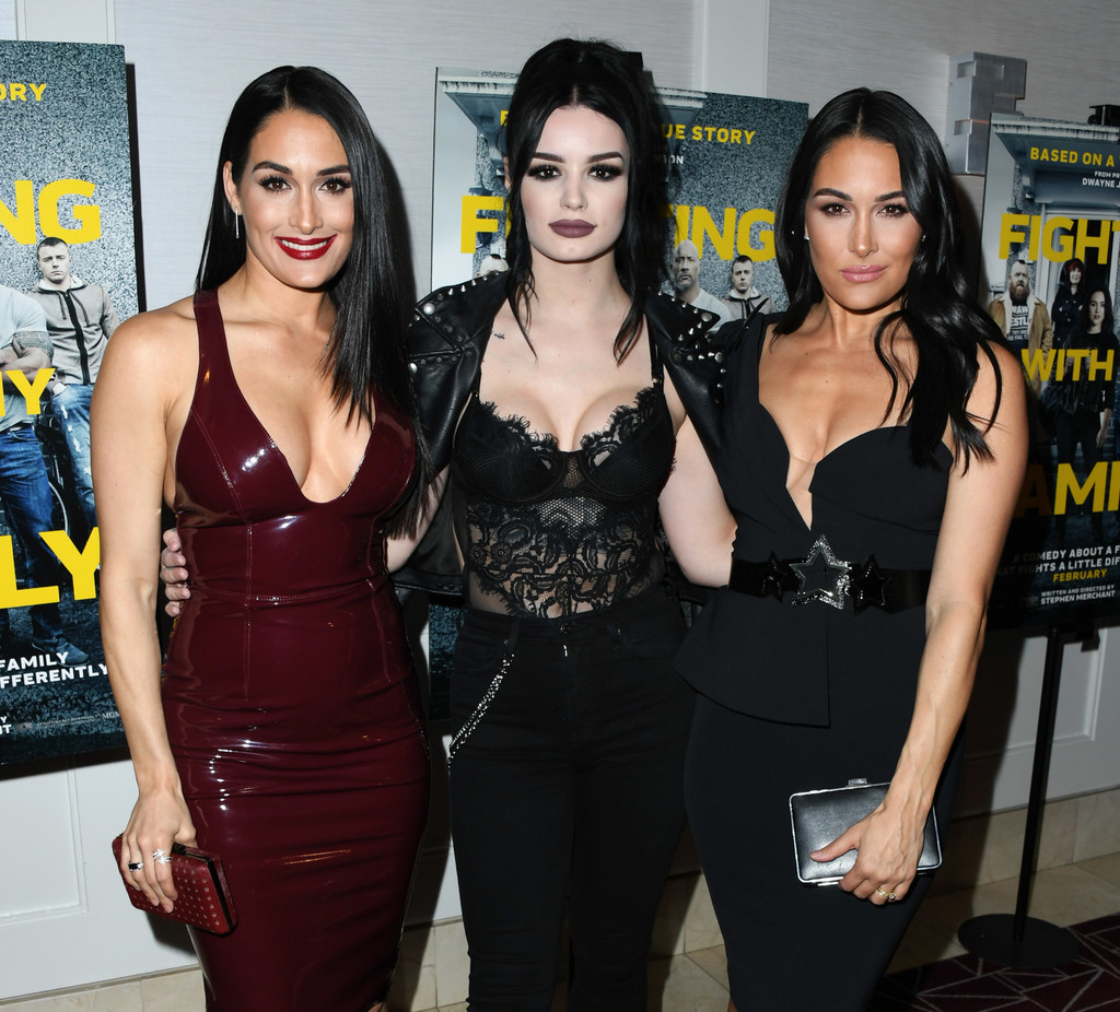 Nikki Bella, Paige Bevis and Brie Bella Fighting with My Family Los Angeles Tastemaker Screening