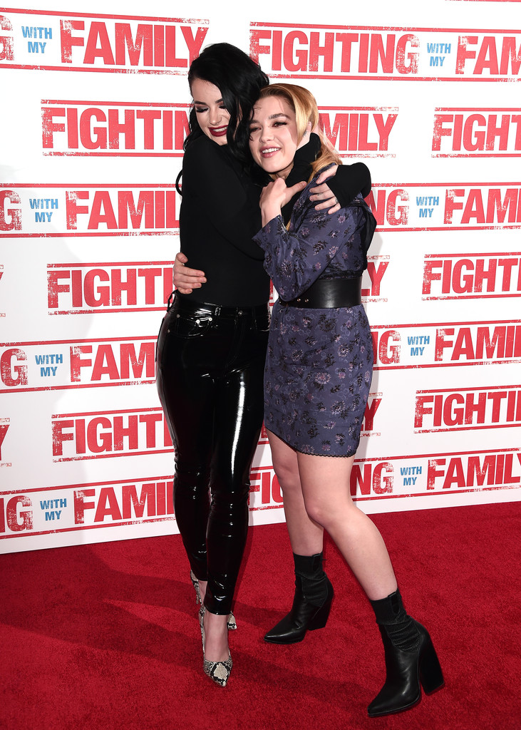 Paige Knight and Florence Pugh Fighting with my Family UK Premiere London Arrivals