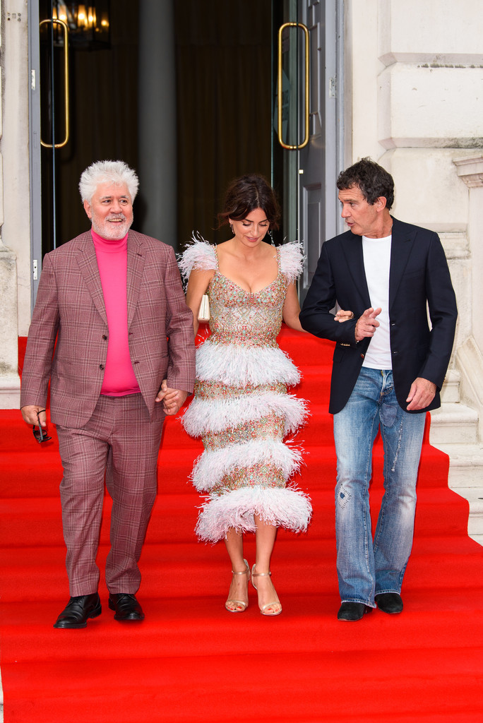 Pedro Almodovar, Penelope Cruz and Antonio Banderas Pain and Glory UK Premiere London 2