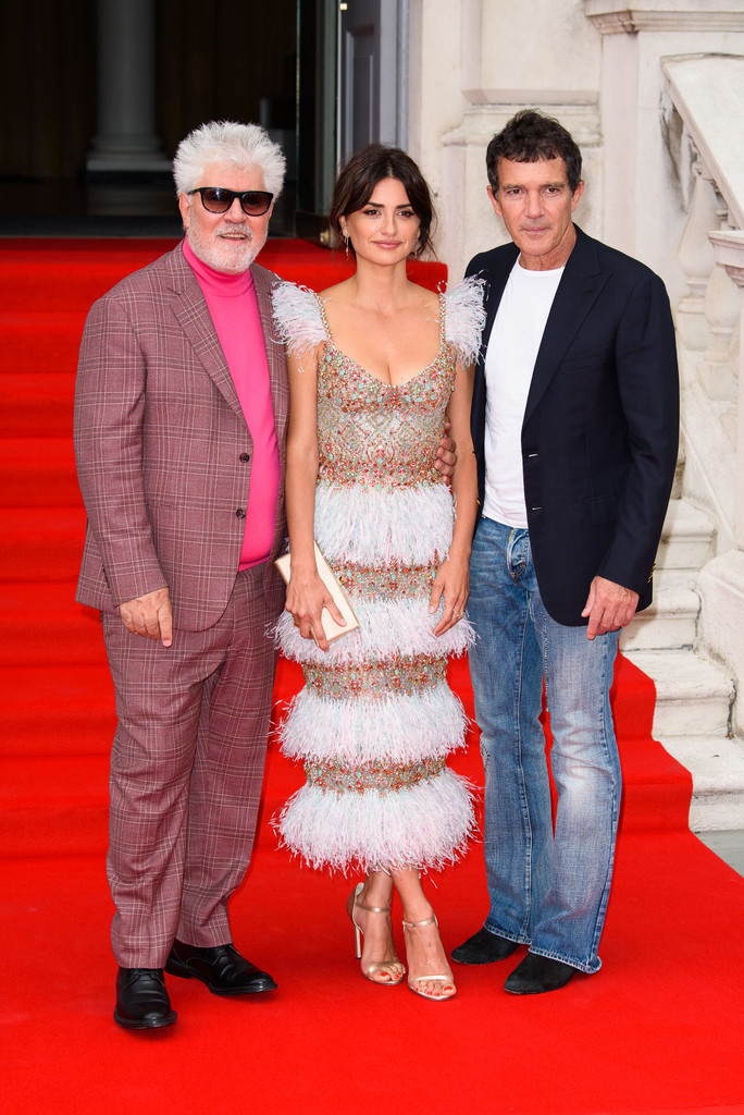 Pedro Almodovar, Penelope Cruz and Antonio Banderas Pain and Glory UK Premiere London