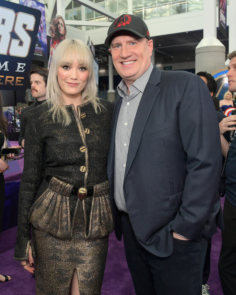 Pom Klementieff and Kevin Feige Marvel Avengers Endgame World Premiere Los Angeles Hollywood