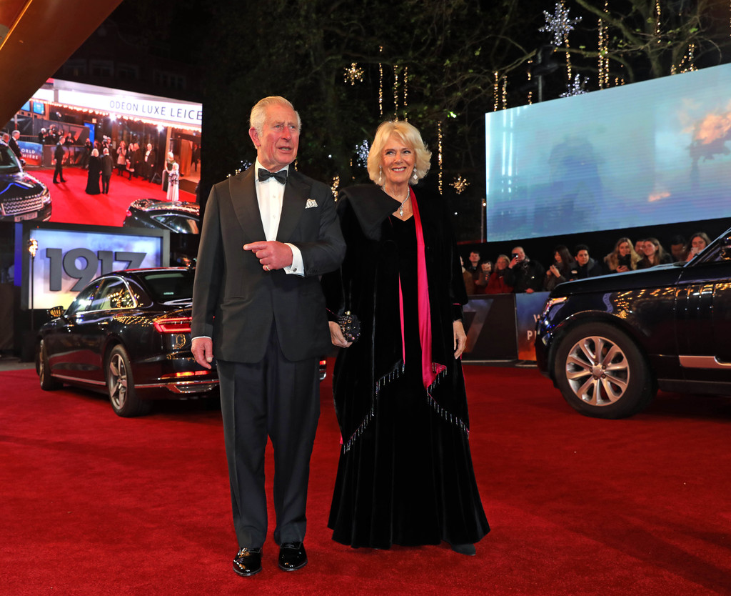 Prince of Wales and Duchess of Cornwall 1917 World Premiere London Arrivals