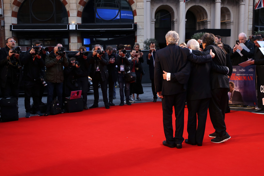 Robert De Niro, Martin Scorsese and Al Pacino The Irishman UK Premiere BFI London Film Festival