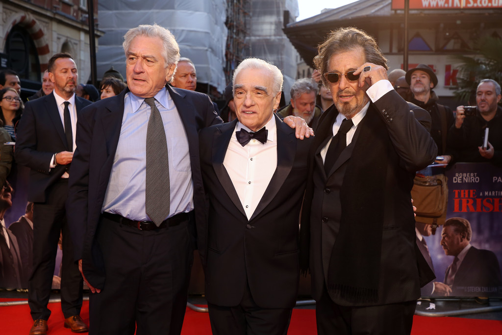 Robert DeNiro, Martin Scorsese and Al Pacino The Irishman UK Premiere BFI London Film Festival