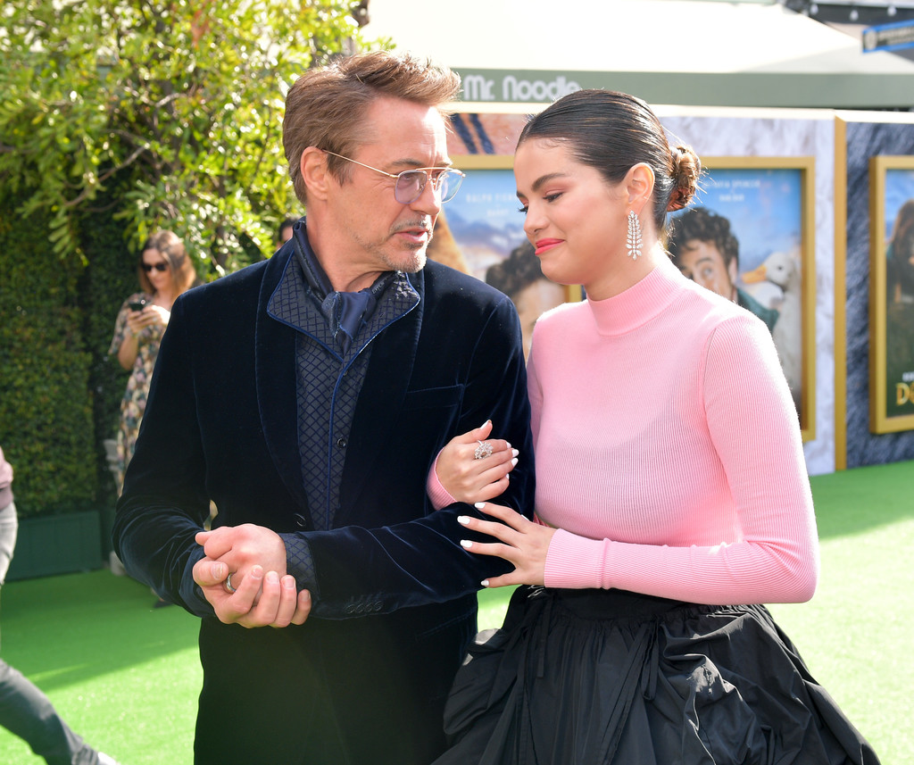 Robert Downey Jr and Selena Gomez Dolittle Premiere Los Angeles Hollywood