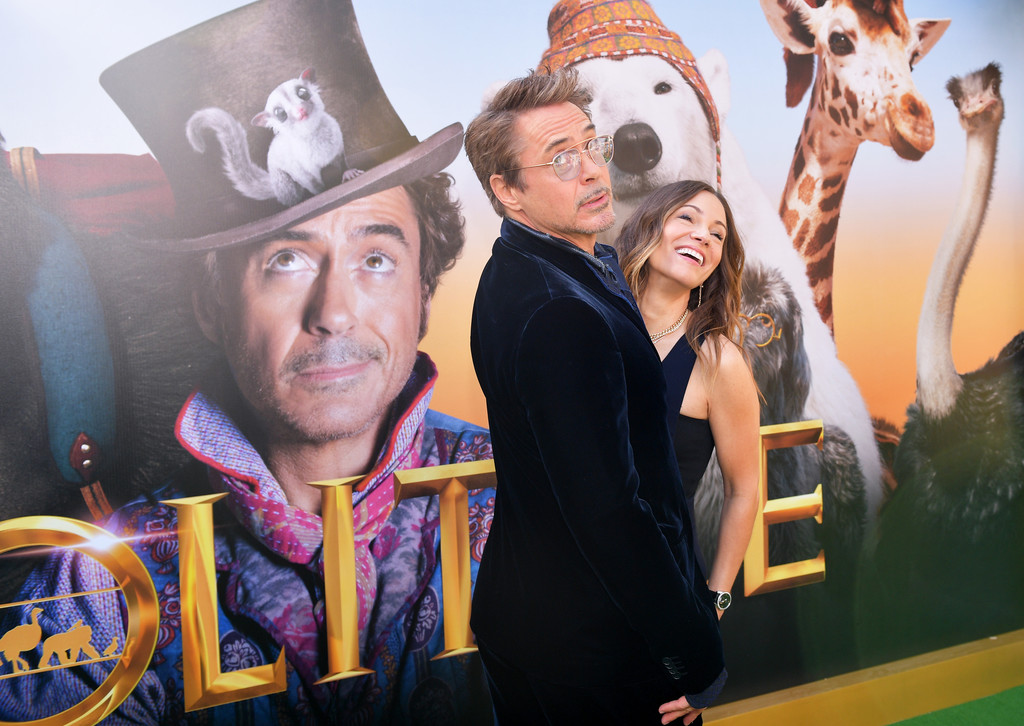 Robert Downey Jr and Susan Downey Dolittle Premiere Los Angeles Hollywood