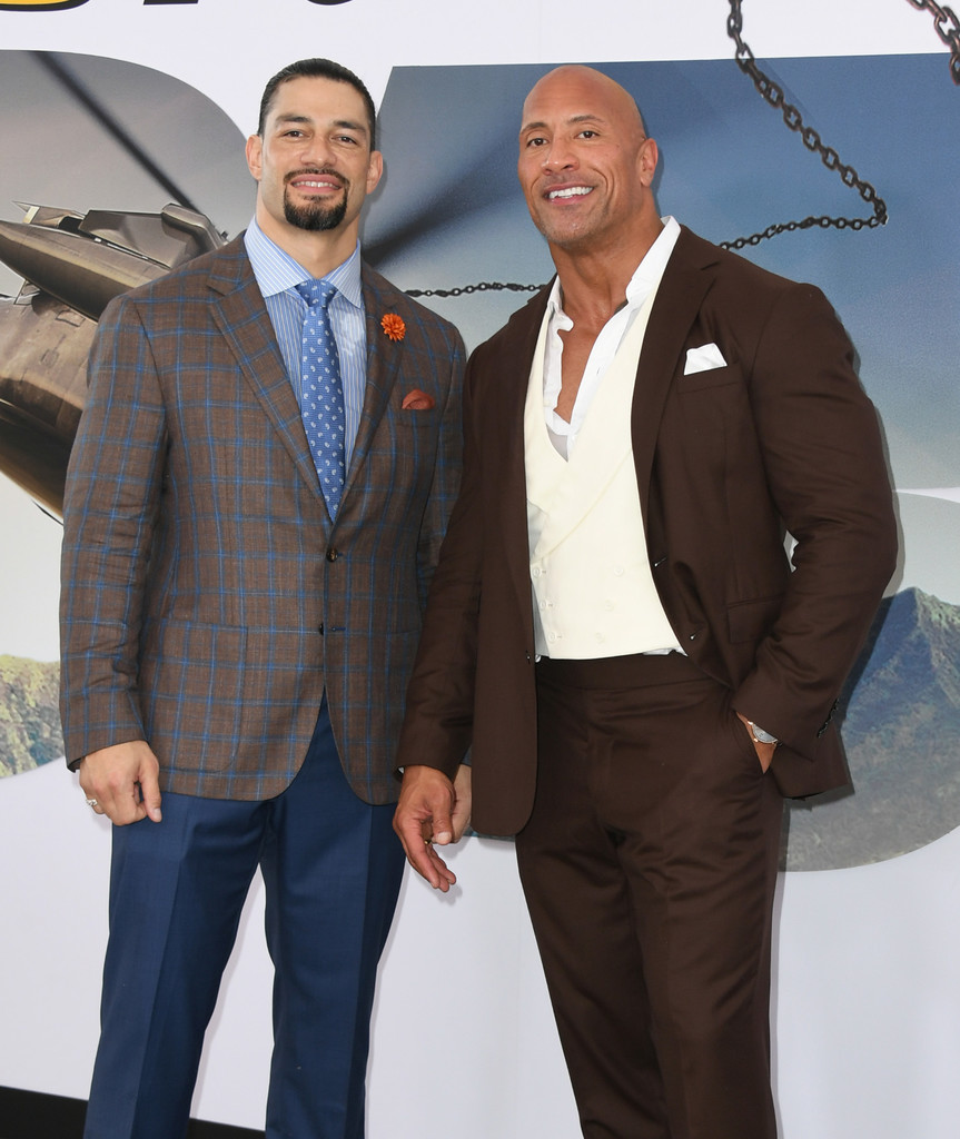 Roman Reigns and Dwyane Johnson Fast and Furious Presents Hobbs and Shaw World Premiere Hollywood Los Angeles
