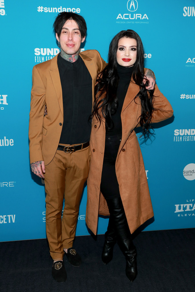 Ronnie Radke and Paige Knight 2019 Sundance Film Festival Fighting With My Family Screening