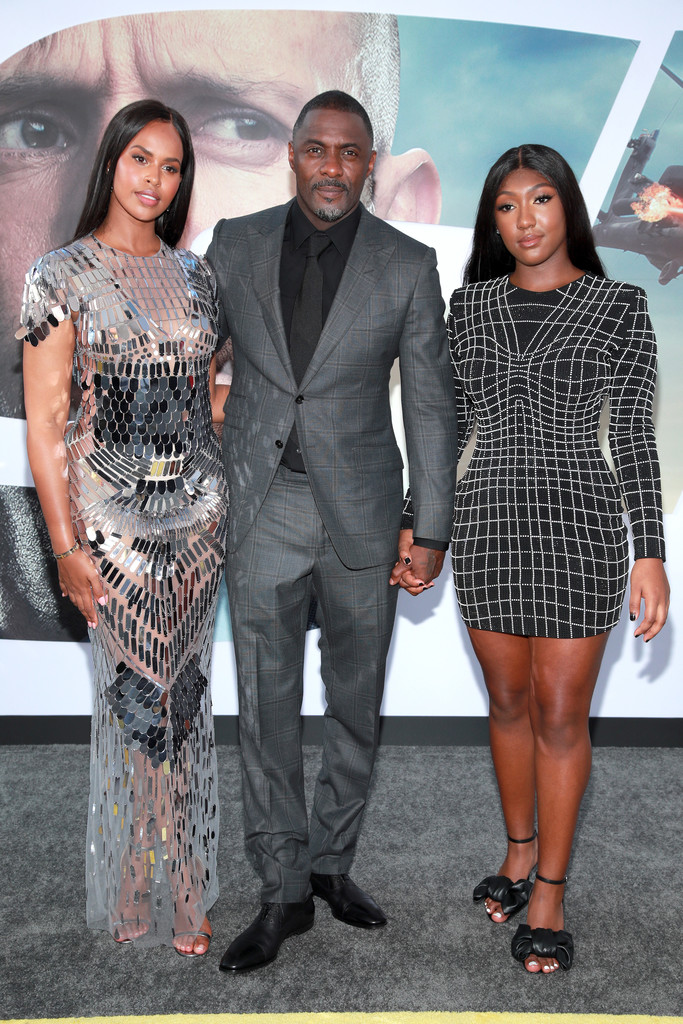 Sabrina Dhowre, Idris and Isan Elba Fast and Furious Presents Hobbs and Shaw World Premiere Hollywood Los Angeles