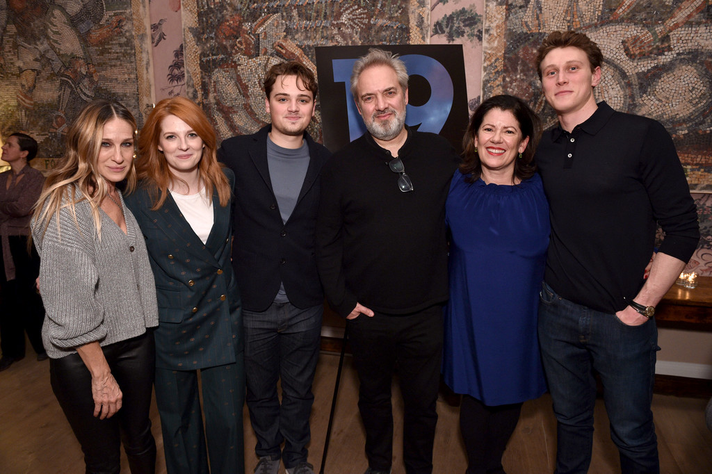 Sarah Jessica Parker, Krysty Wilson-Cairns, Sam Mendes, Dean-Charles Chapman, Pippa Harris and George Mackay 1917 New York City Special Screening