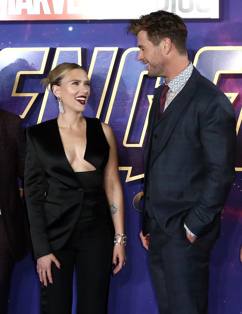 Scarlett Johansson and Chris Hemsworth Avengers Endgame UK Premiere London