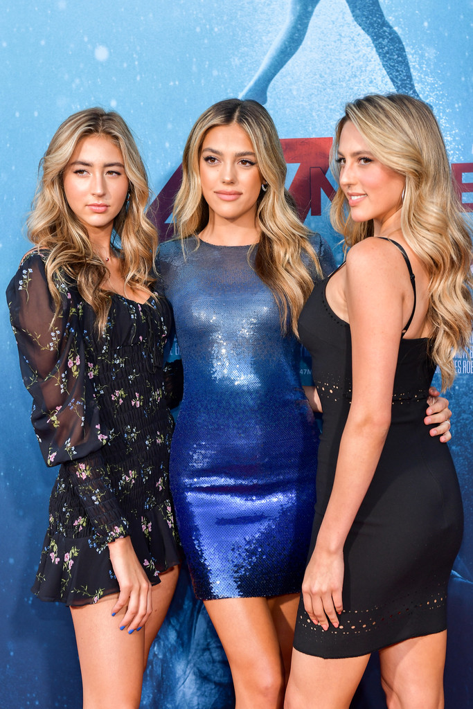 Scarlett, Sistine and Sophie Stallone 47 Meters Down Uncaged Los Angeles Premiere