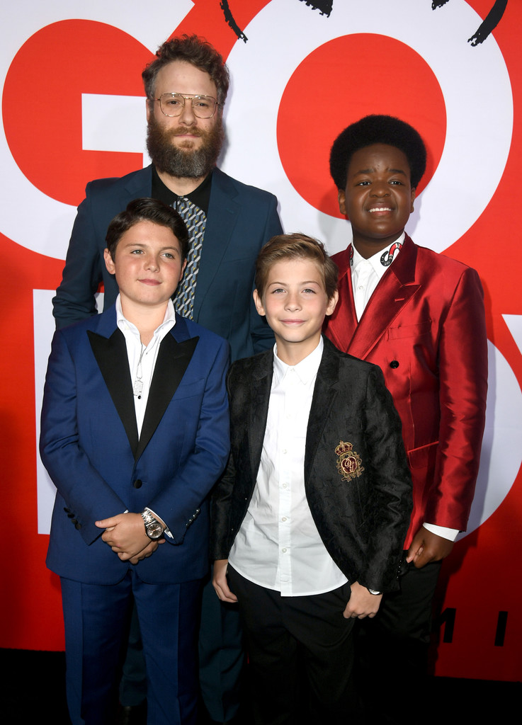 Seth Rogen, Keith L. Williams, Brady Noon and Jacob Tremblay Good Boys Los Angeles Premiere