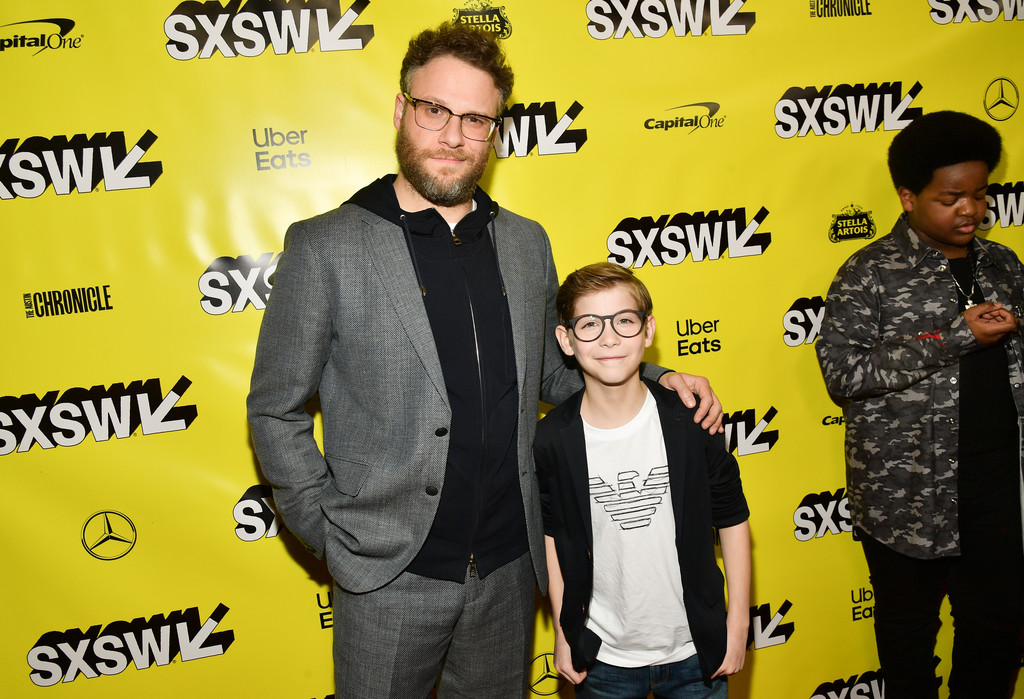 Seth Rogen and Jacob Tremblay Good Boys Premiere Texas 2