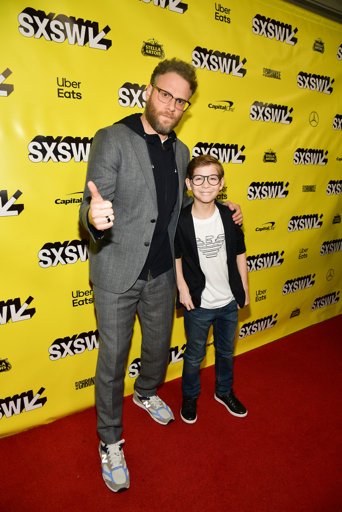 Seth Rogen and Jacob Tremblay Good Boys Premiere Texas