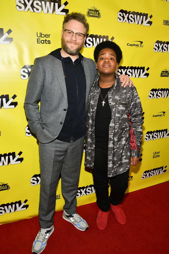 Seth Rogen and Keith L. Williams Good Boys Premiere Texas