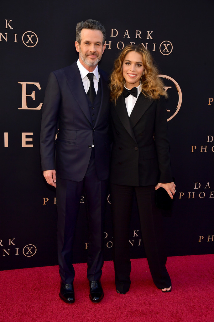 Simon Kinberg and Cleo Wade X Men Dark Phoenix Los Angeles Hollywood Premiere