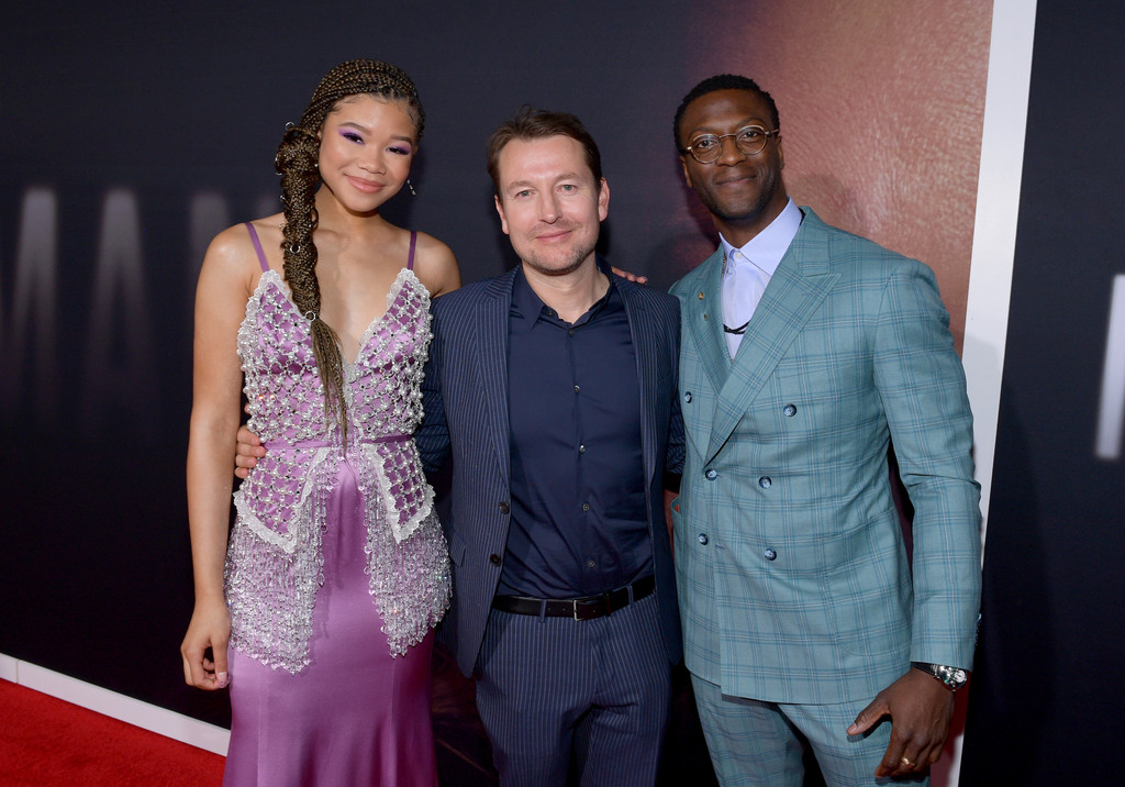 Storm Reid, Leigh Whannell and Aldis Hodge The Invisible Man Hollywood Premiere Los Angeles Arrivals