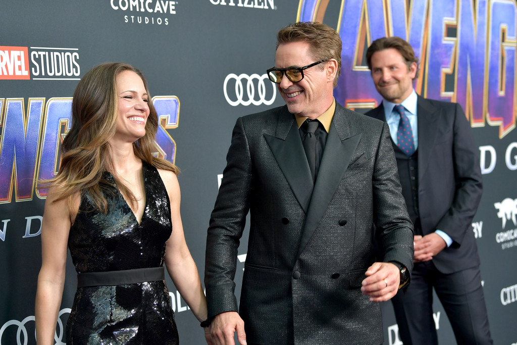 Susan Downey, Robert Downey Jr and Bradley Cooper Marvel Avengers Endgame World Premiere Los Angeles Hollywood