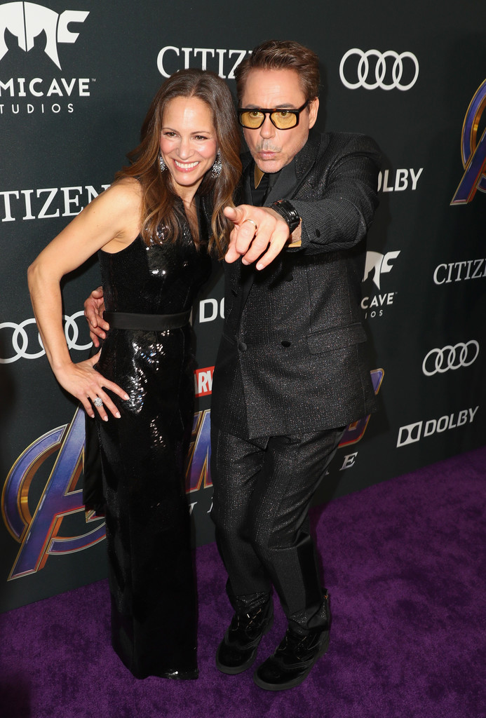 Susan Downey and Robert Downey Jr. Marvel Avengers Endgame World Premiere Los Angeles Hollywood